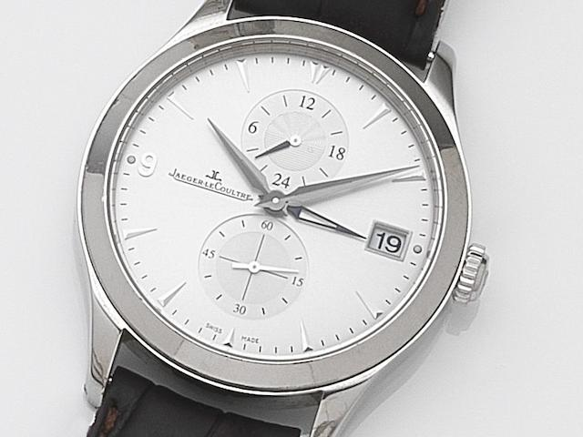 Jaeger-LeCoultre. A stainless steel automatic dual time calendar wristwatch Master Control 1000 Hours, Ref:174.8.05.S, Case No.2504151, Movement No.3572037, Circa 2010