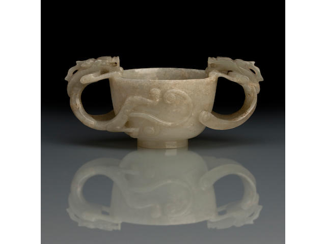 A jade libation cup Ming