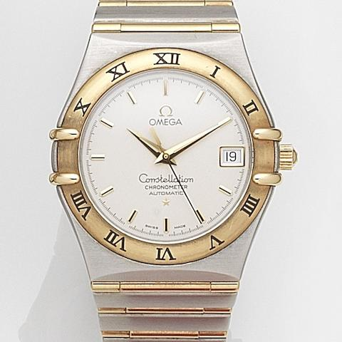 Omega. A stainless steel and gold automatic calendar bracelet watch  Constellation, Ref:12023000, Sold 19th February 2004