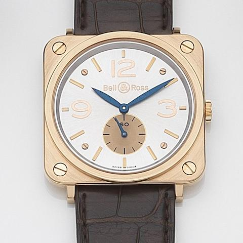 Bell & Ross. An 18ct rose gold manual wind wristwatch BR-S Gold, Ref:BRS-70-R-00224, Sold 14th February 2012