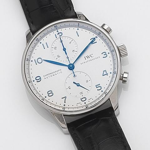 IWC. A stainless steel automatic chronograph wristwatch Portuguese Chronograph, Ref:3714, Case No.3206741, Movement No.2698915, Circa 2005