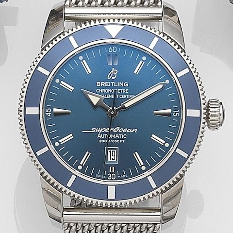 Breitling. A stainless steel automatic calendar bracelet watch Superocean, Ref:A1732016/0734, Case No. 1398183, Sold at Fraser Hart 1st March 2012
