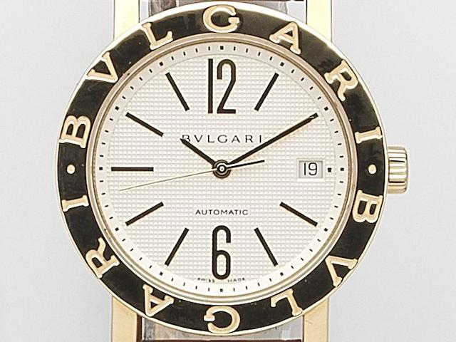 Bulgari. An 18ct gold automatic calendar wristwatch  Ref:BB 38 GL, Case No.LK642, Circa 2009