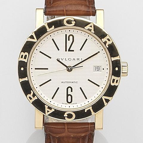 Bulgari. An 18ct gold automatic calendar wristwatch  Ref:BB 38 GL, Case No.LK642, Circa 2009