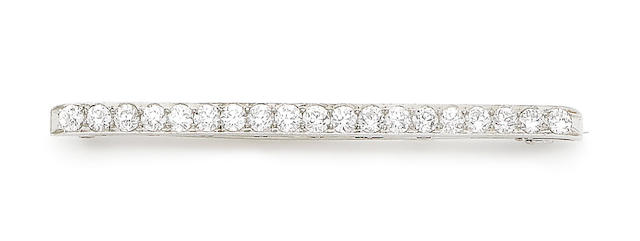An early 20th century diamond bar brooch, retailed by Tiffany & Co.