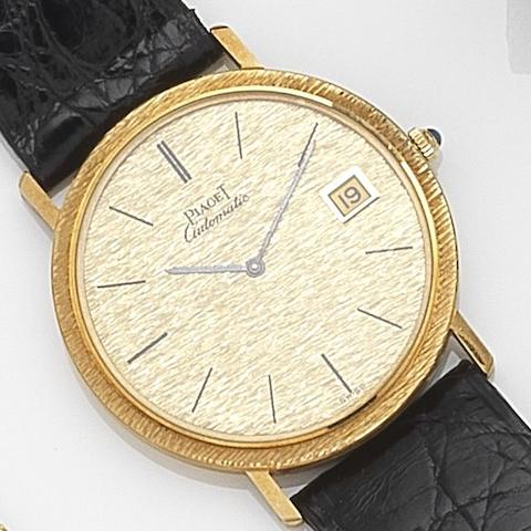 Piaget. An 18ct gold automatic calendar wristwatch Ref:13343, Case No.287599, Movement No.776560, Circa 1970