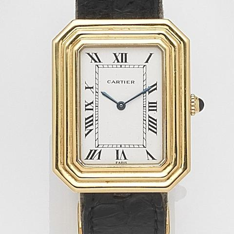 Cartier. An 18ct gold manual wind wristwatch Case No.750960171, Circa 1975