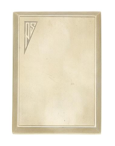 A gold cigarette case, by Asprey, (illustrated above)