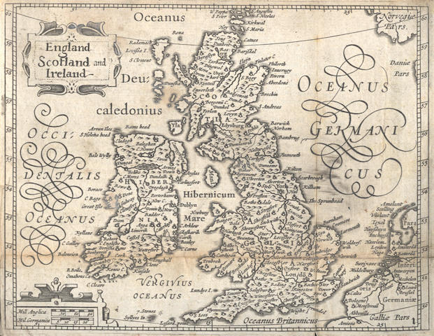 KEERE (VAN DEN) England, Wales, Scotland and Ireland Described and Abridged with ye Historic Relation of Things Worthy Memory from a Farr Larger Voulume Done by John Speed, 1627 [but 1646?]
