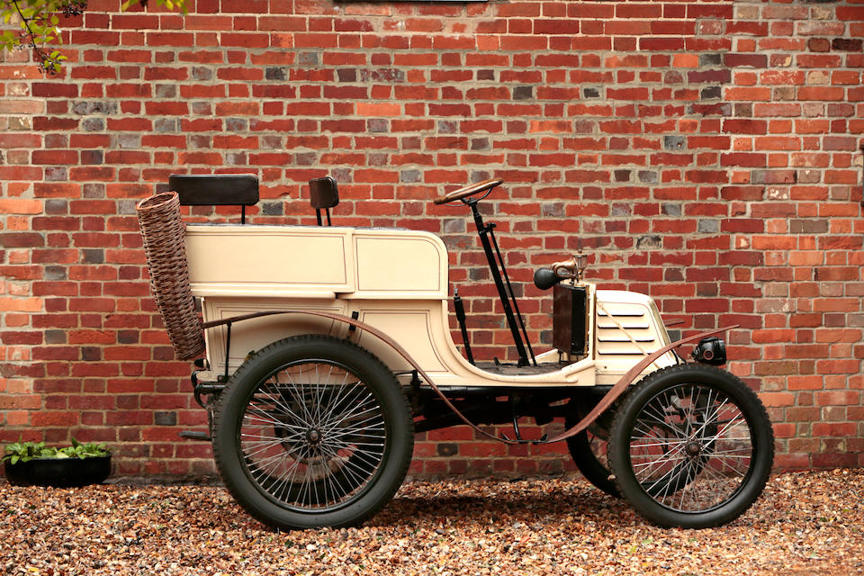 1901 Georges Richard 3½ hp Single-Cylinder Four-Seat Rear Entrance Tonneau  Chassis no. 419 Engine no. 429