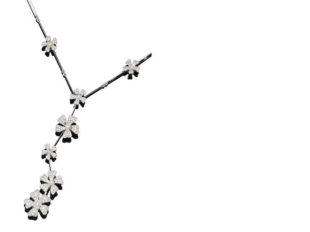 A diamond-set 'Wildflowers' necklace, by De Beers