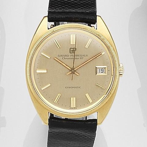 Girard-Perregaux. An 18ct gold automatic calendar wristwatch Gyromatic, Movement No.424805, Circa 1965