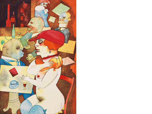 George Grosz (German, 1893-1959) Ecce Homo The book, 1923, edition D, containing 84 lithographs, published by Der Malik Verlag, Berlin, bound as issued, 365 x 270mm (14 3/8 x 10 5/8in)(volume)