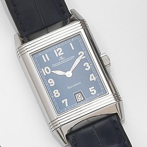 Jaeger-LeCoultre. A stainless steel quartz calendar reversible wristwatch Reverso, Ref:270.8.12, Case No.1880242, Circa 1995