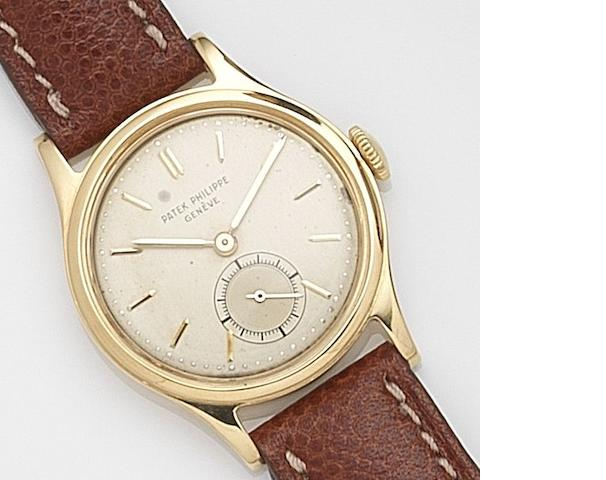 Patek Philippe. An 18ct gold manual wind wristwatch Ref:3451, Case No.664742, Movement No.956422, Circa 1958