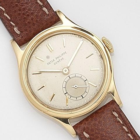 Patek Philippe. An 18ct gold manual wind wristwatch Ref:3451, Case No.664742, Movement No.956422, Circa 1958
