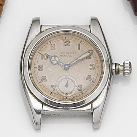 Rolex. A stainless steel manual wind watch head Oyster Royal, Ref:2765, Serial No.140782, Circa 1941
