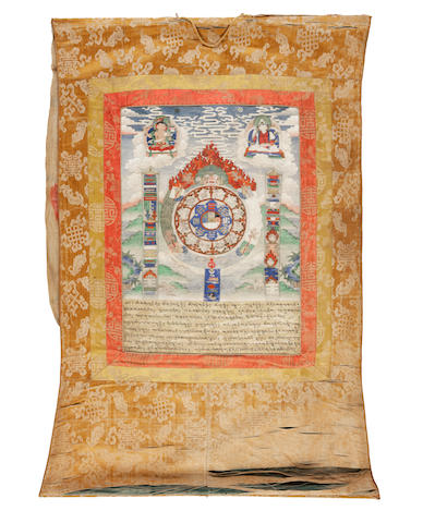 A Tibetan thangka 19th century