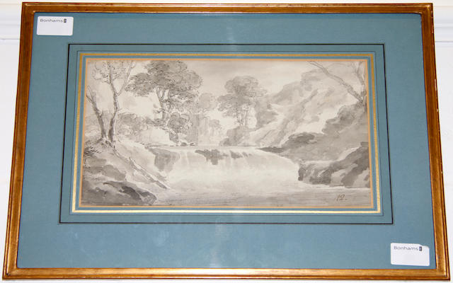 English School (late 18th century) Lakeland waterfall