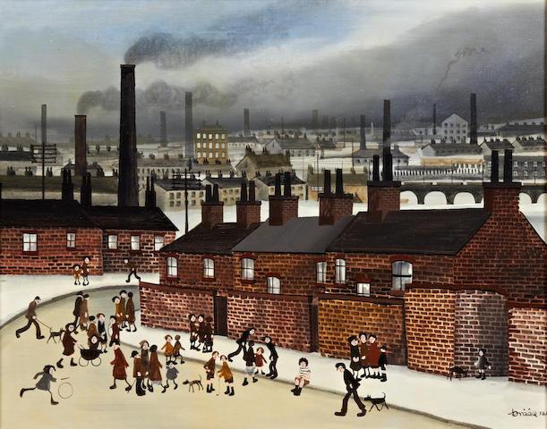 Brian Shields (Braaq) (British, 1951-1997) 'Fagan Street, Liverpool'