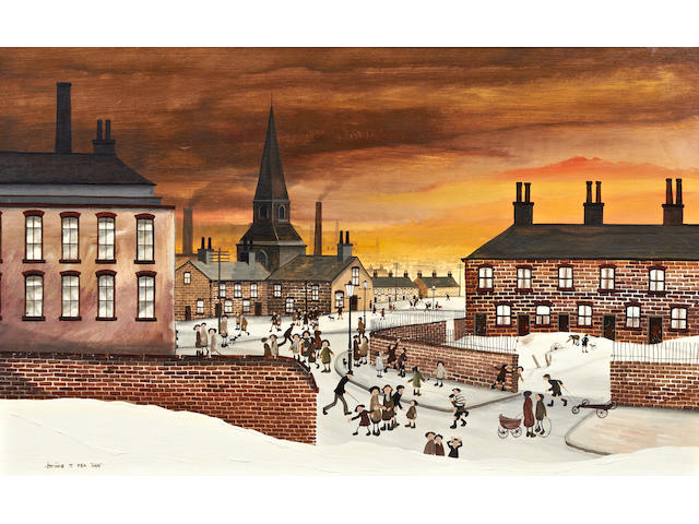 Brian Shields (Braaq) (British, 1951-1997) 'St Mark's Liverpool'