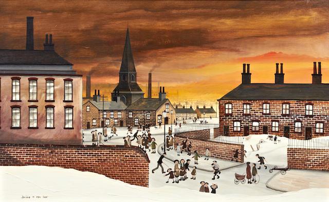 Brian Shields (Braaq) (British, 1951-1997) 'St Mark's Liverpool'