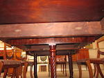 A good Regency mahogany dining table