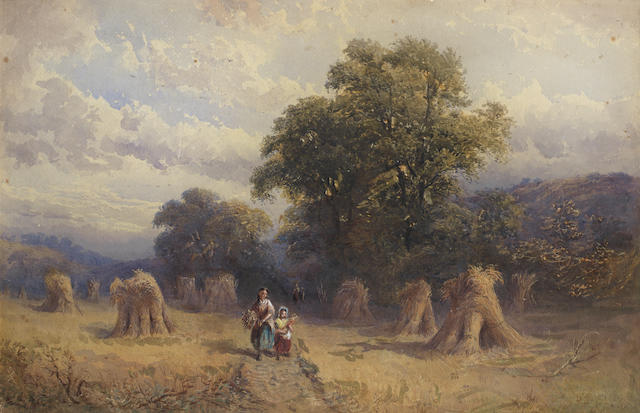 George Vicat Cole, RA (British, 1833-1893) After the harvest