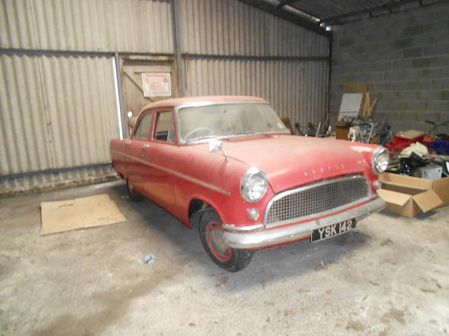 Property of a deceased's estate,1959 Ford Consul MkII Saloon Project  Chassis no. 204E197387 Engine no. 204E197387