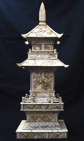 A bone pagoda Meiji