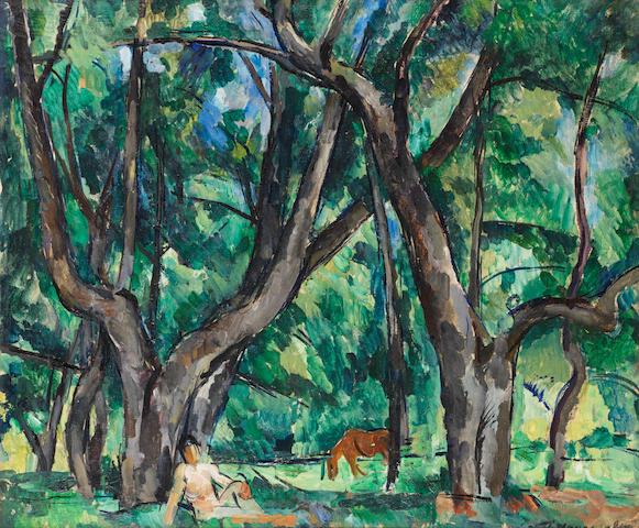 Petr Petrovich Konchalovsky (Russian, 1876-1956) 'Park'