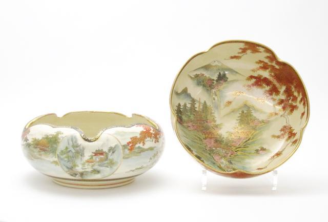 Two Satsuma bowls Meiji