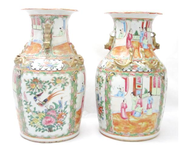 Two pairs of vases Late 19th/early 20th century