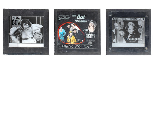 Early Hollywood Cinema: A collection of forty-four glass advertising slides for forthcoming attractions, 1929-1931,