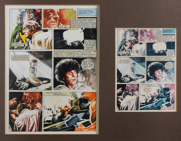 Doctor Who: A piece of original artwork for 'The Dr. Who Annual 1977',