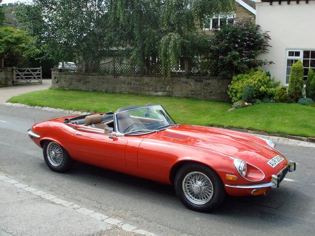 1973 Jaguar E-Type Series III V12 Roadster  Chassis no. UE1S23689BW Engine no. 7S14682LB