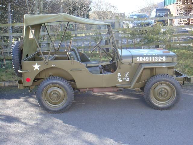 From the estate of the late Gavin Taylor, test miles only since full restoration,1943 Willys Jeep 4x4 Chassis no. GDW167116 Engine no. MB408680