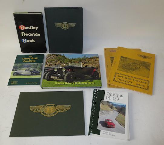 Seven Vintage Bentley books and publications,