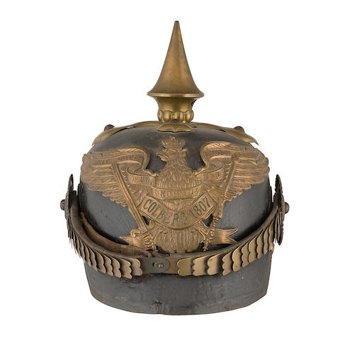 A Prussian 1870 Pattern Other Ranks Artillery Picklehaube Of The 3rd Company, 2nd Foot Artillery Regiment