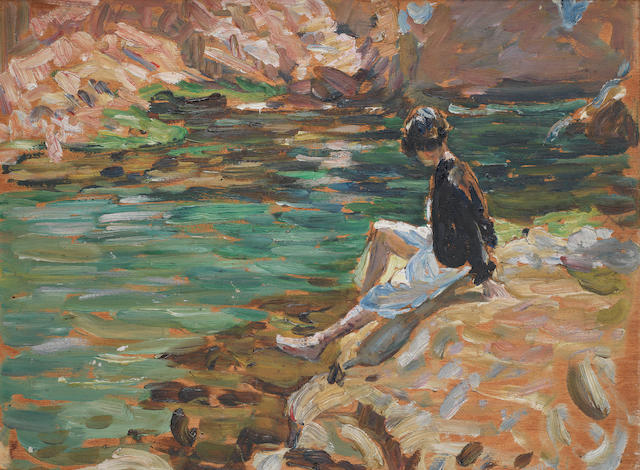Dorothea Sharp (British, 1874-1955) The Green Pool, Tossa, Spain