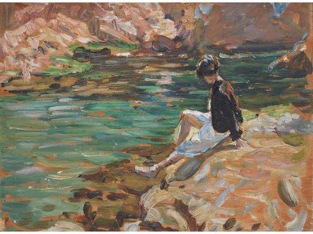 Dorothea Sharp (British, 1874-1955) The Green Pool, Tossa, Spain