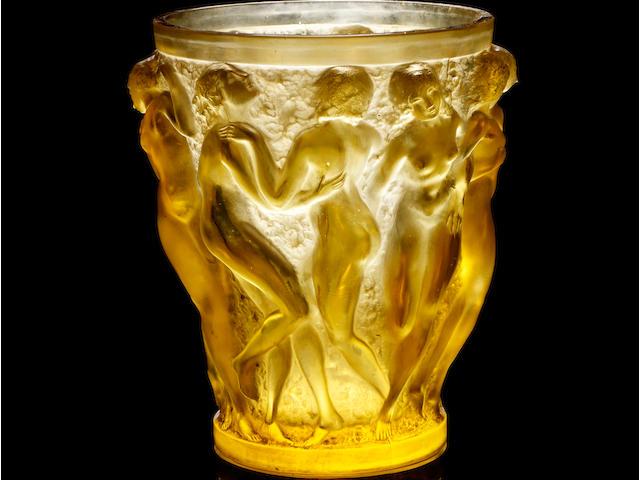 René Lalique (1860-1945) 'Bacchantes' a Vase, design 1927