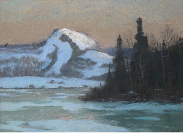 Maurice Galbraith Cullen, RCA (Canadian, 1866-1934) Early sun, Lac Vert, Laurentians, Quebec