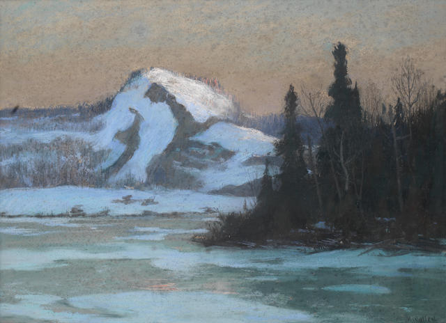 Maurice Galbraith Cullen, RCA (Canadian, 1866-1934) Early sun, Lac Vert, Laurentians, Quebec