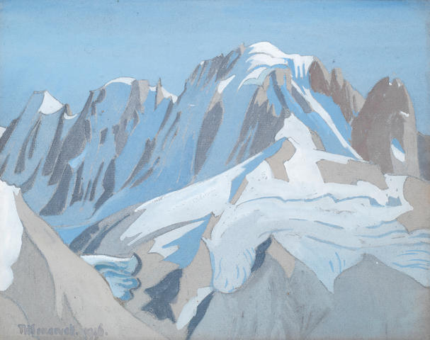 Theodore Howard Somervell (British, 1890-1975) A mountain landscape thought to be the Himalayas