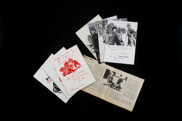 Seven rare and privately-printed 'Christmas' booklets Signed by Ma Haide between 1975-1982, photographed by Rewi Alley