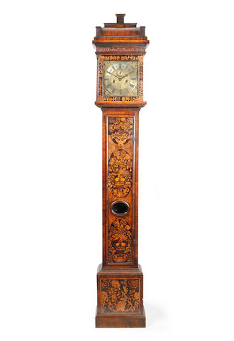 A late 17th century walnut and marquetry longcase clock Joseph Windmills, London