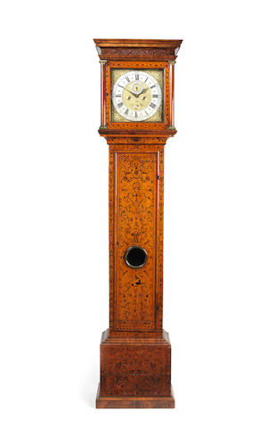 An early 18th century seaweed marquetry walnut longcase clock Jabez Stock, London