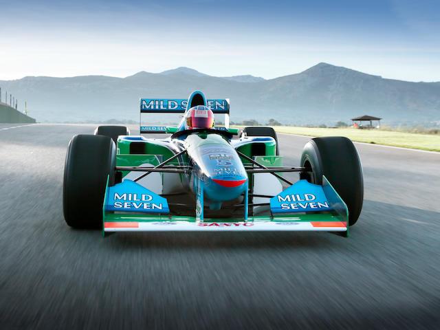 The ex-Michael Schumacher, 1994 FIA Formula 1 World Championship-Winning,Benetton-Cosworth Ford B194 Formula 1 Racing Single-Seater  Chassis no. B194-05