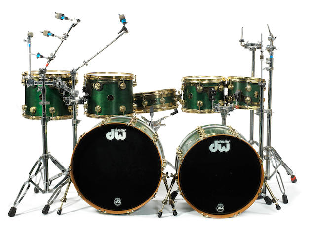 Cream / Ginger Baker: Ginger Baker's DW drum kit used on stage for the Cream 2005 reunion,